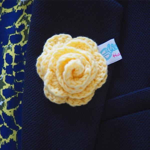 Yellow rose on jacket