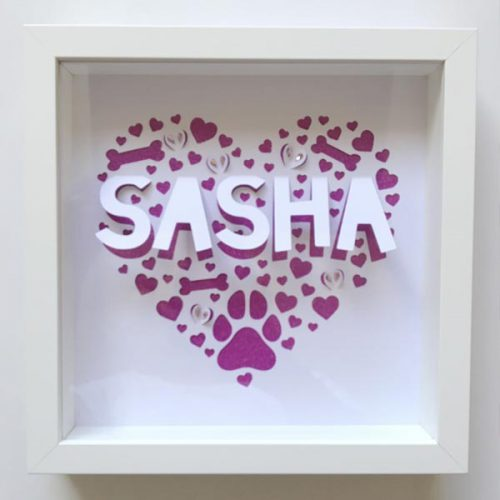 Girl dog frame from above