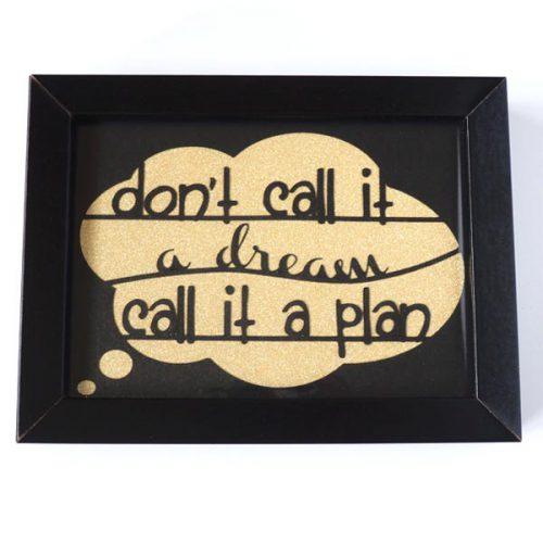 Dream Plan black front