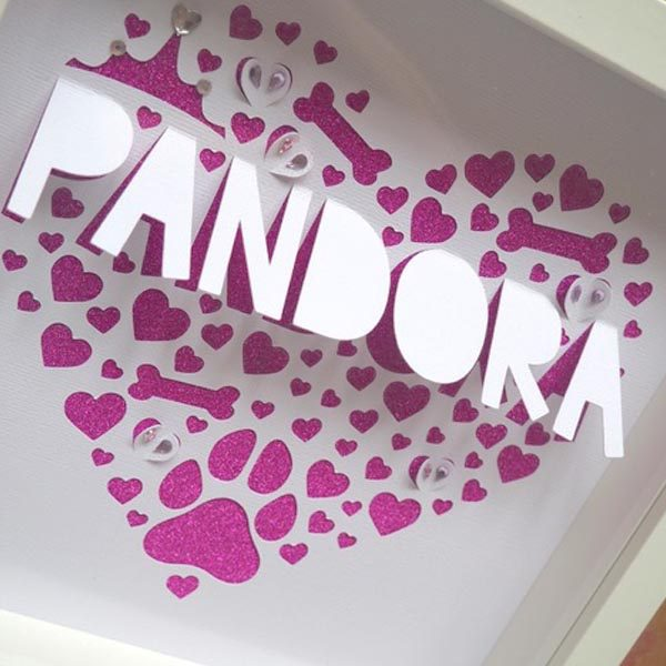 Girl dog personalised frame