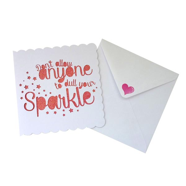 Pink on envelope