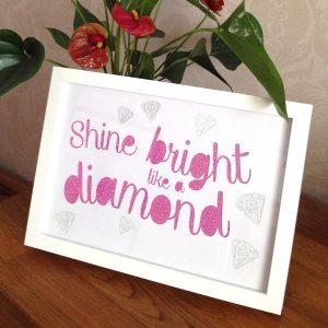 Shine Bright Framed Artwork