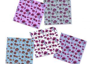 Allium pattern swatches