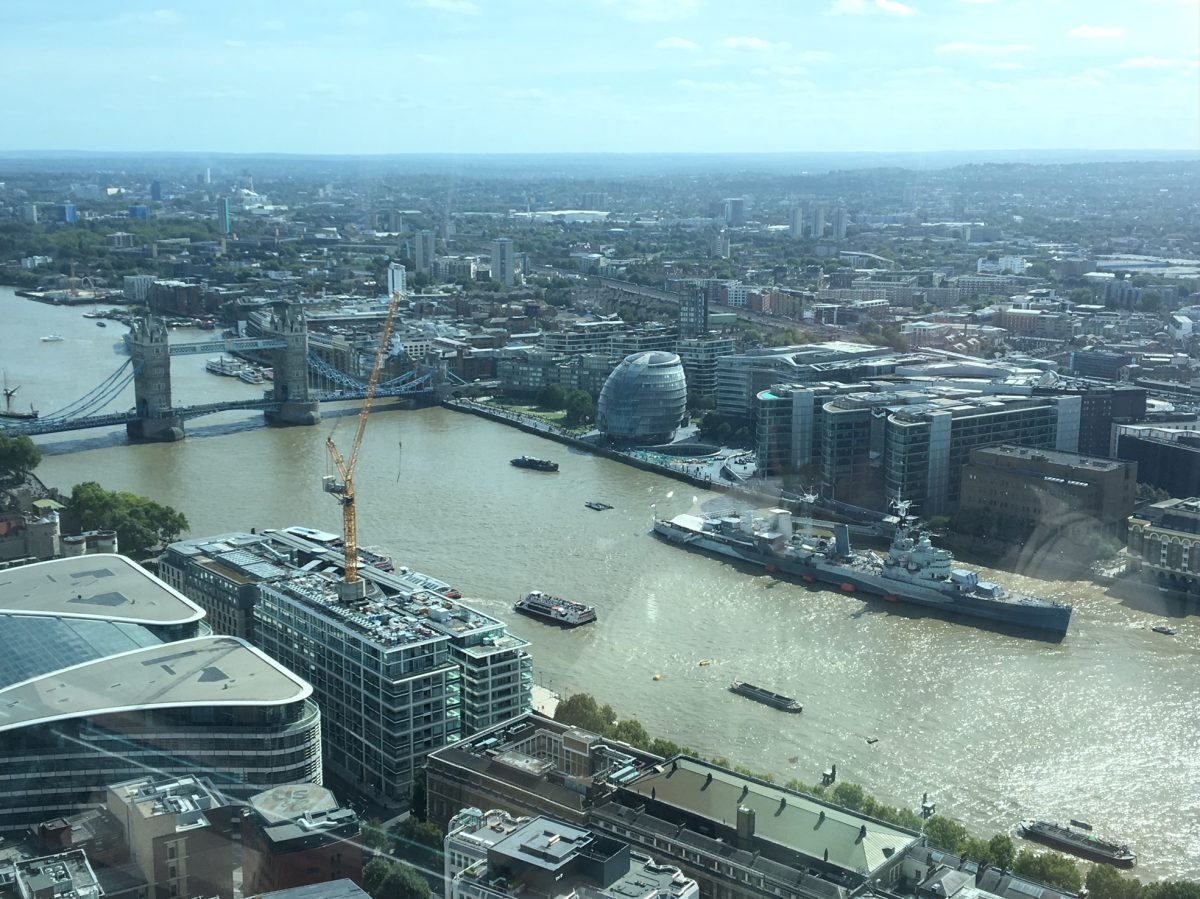 London Bridge from the Sky Garden