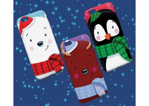 Winter Friends iPhone covers