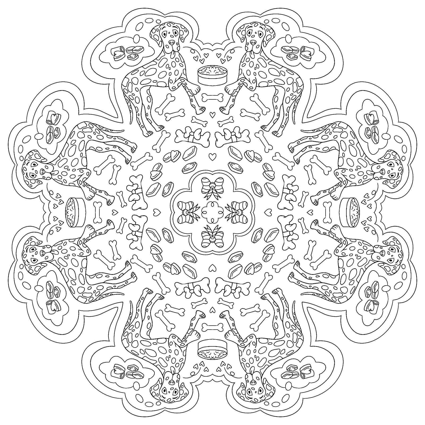 Dalmatian colouring page