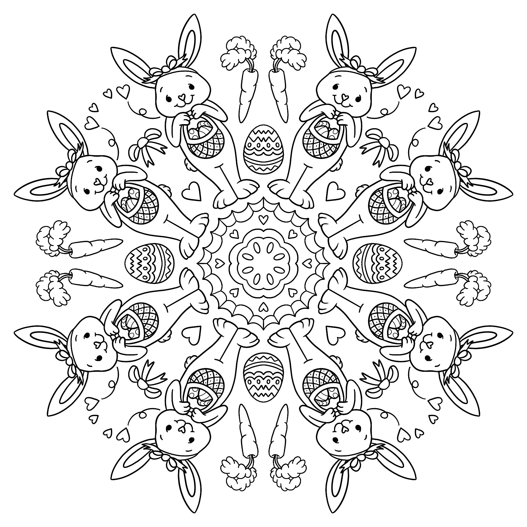 Easter bunny colouring sheet