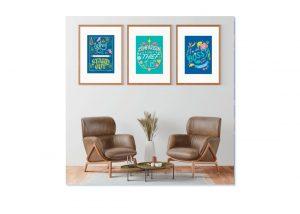 Lettering prints framed mock up