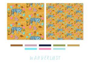 Wanderlust swatch and pattern